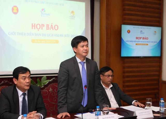 Thứ trưởng Lê Quang Tùng chủ trì họp báo giới thiệu về Diễn đàn Du lịch ASEAN (ATF) 2019 - Ảnh 1.