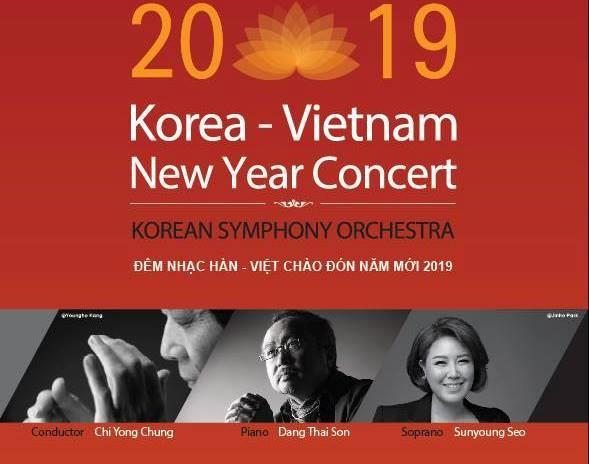 Hòa nhạc Việt – Hàn chào  đón năm mới 2019 - Ảnh 1.
