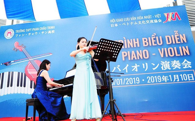 Đưa âm nhạc Nhật Bản đến với học sinh thành phố Đà Nẵng - Ảnh 1.