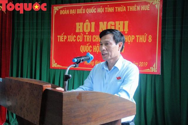 Bộ trưởng Nguyễn Ngọc Thiện tiếp xúc cử tri Thị xã Hương Trà - Ảnh 1.