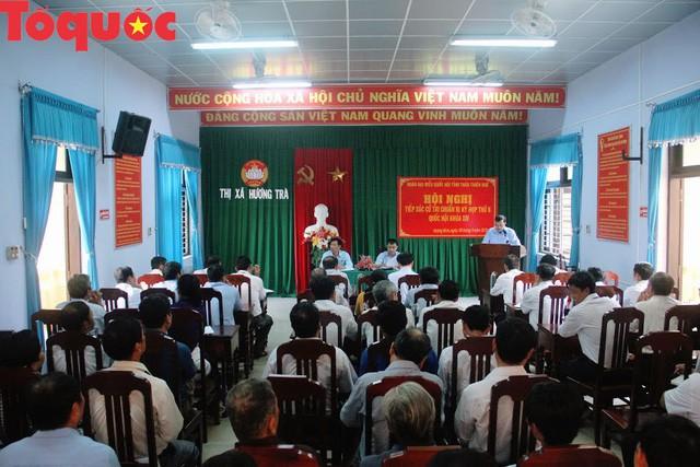 Bộ trưởng Nguyễn Ngọc Thiện tiếp xúc cử tri Thị xã Hương Trà - Ảnh 2.