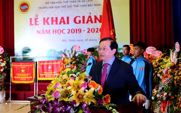Thứ trưởng Tạ Quang Đông dự lễ Khai giảng năm học mới tại Trường Đại học TDTT Bắc Ninh  - Ảnh 1.