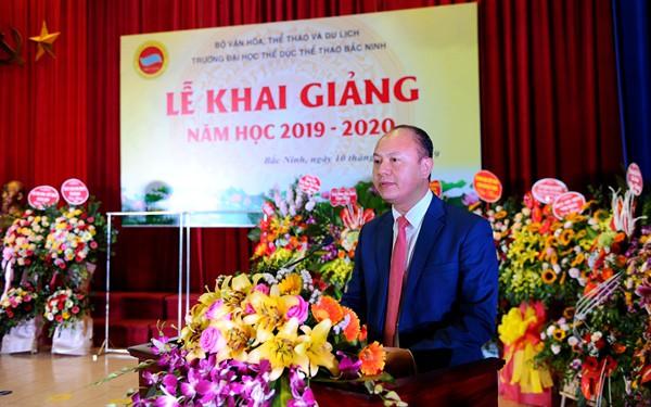 Thứ trưởng Tạ Quang Đông dự lễ Khai giảng năm học mới tại Trường Đại học TDTT Bắc Ninh  - Ảnh 2.