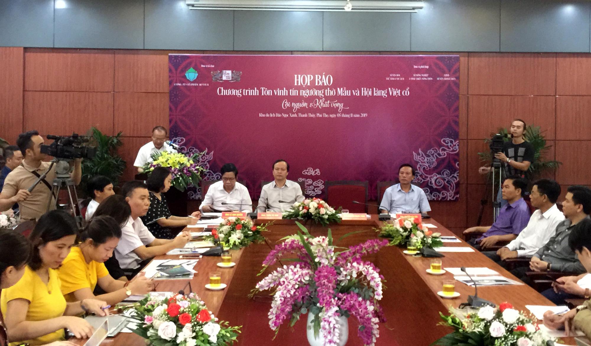 Lần đầu tiên tái hiện Hội làng Việt cổ và tôn vinh tín ngưỡng thờ Mẫu ở Phú Thọ - Ảnh 1.