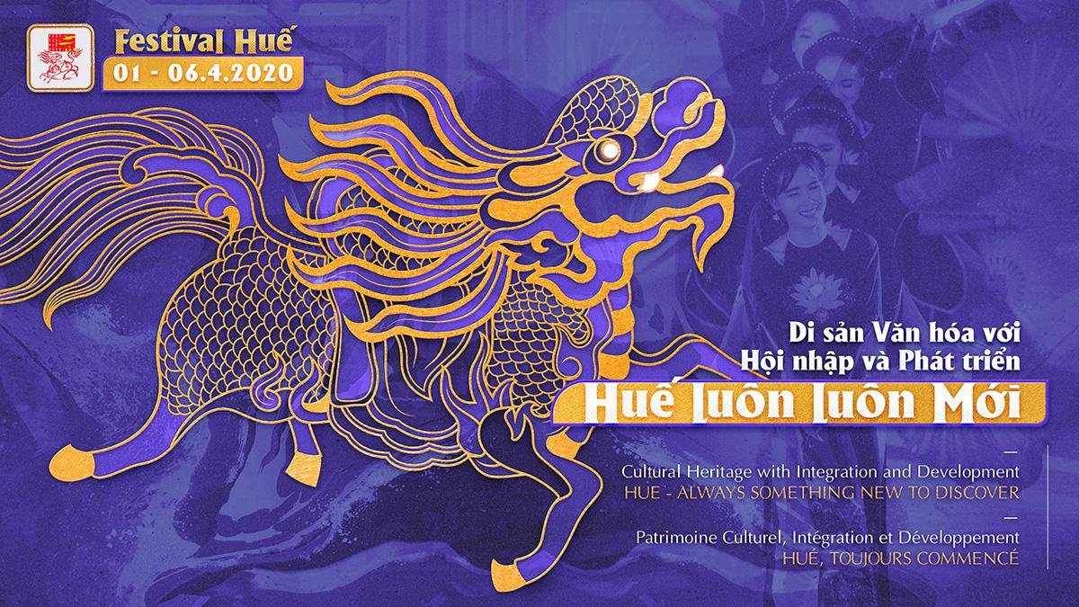 Bốn linh vật nghệ thuật cung đình Huế được chọn làm hình ảnh nhận diện Festival Huế 2020 - Ảnh 1.