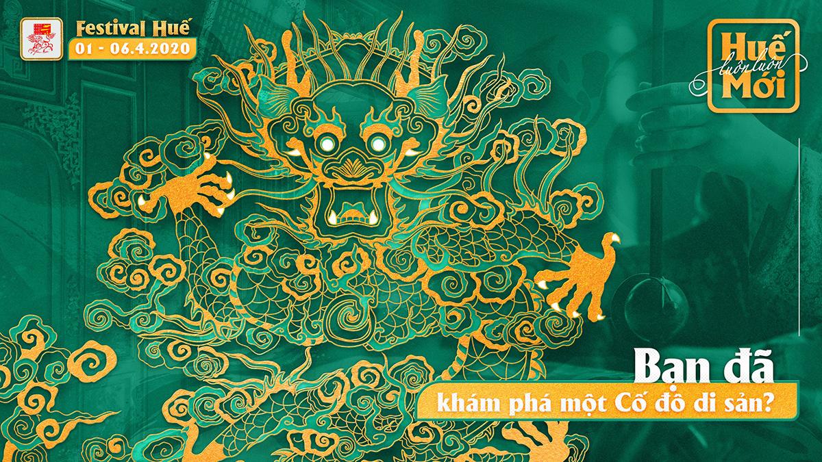 Bốn linh vật nghệ thuật cung đình Huế được chọn làm hình ảnh nhận diện Festival Huế 2020 - Ảnh 2.