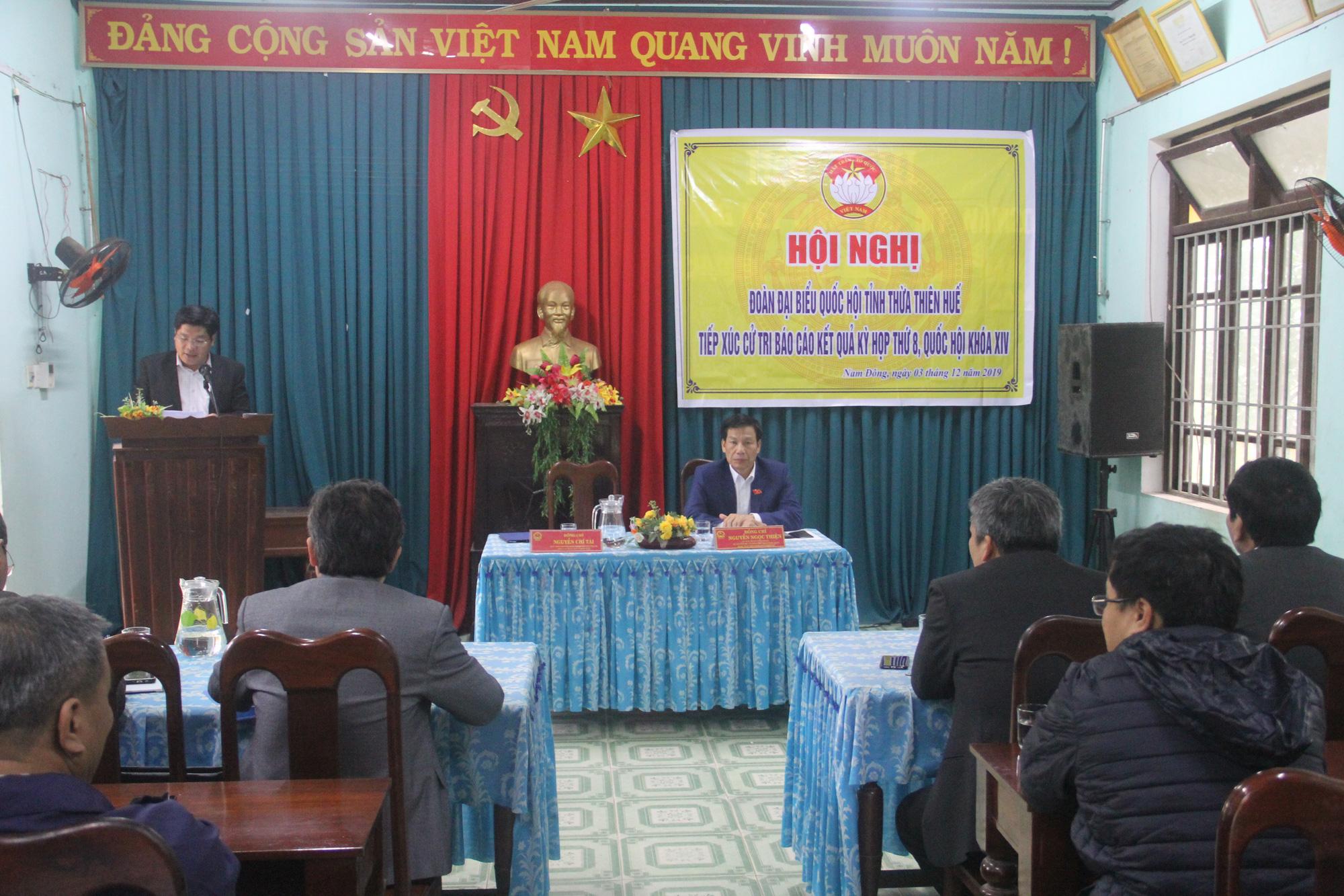 Bộ trưởng Nguyễn Ngọc Thiện tiếp xúc cử tri huyện miền núi Nam Đông - Ảnh 3.