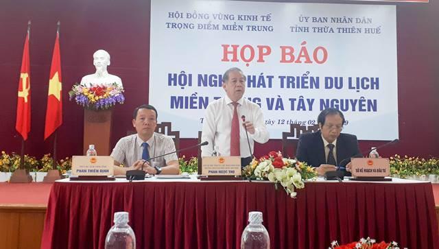 Họp báo về Hội nghị phát triển du lịch miền Trung và Tây Nguyên - Ảnh 1.