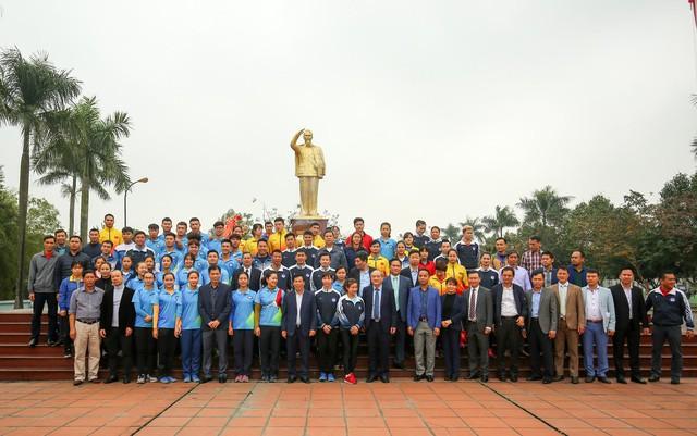 Hình ảnh Bộ trưởng Nguyễn Ngọc Thiện thăm và chúc Tết các VĐV, HLV  - Ảnh 13.