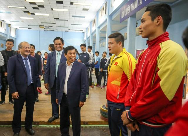 Hình ảnh Bộ trưởng Nguyễn Ngọc Thiện thăm và chúc Tết các VĐV, HLV  - Ảnh 2.