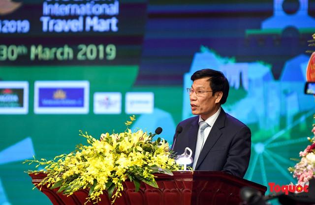 Bộ trưởng Bộ VHTTDL Nguyễn Ngọc Thiện phát biểu khai mạc Hội chợ Du lịch quốc tế VITM 2019