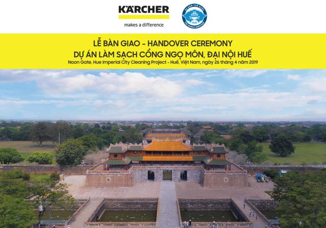 Bàn giao dự án làm sạch Cổng Ngọ Môn, Đại Nội Huế - Ảnh 1.