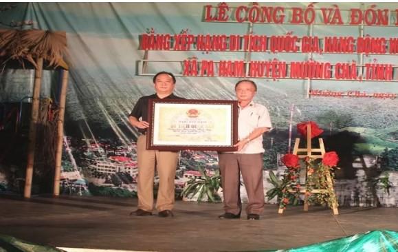 Lễ đón Bằng xếp hạng Di tích quốc gia Quần thể di tích danh thắng hang động Huổi Cang, Huổi Đáp - Ảnh 1.