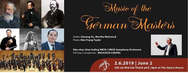 Trình diễn những tác phẩm đặc sắc của ba nhà soạn nhạc vĩ đại người Đức tại Việt Nam  - Ảnh 1.