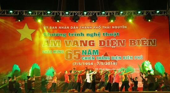 Trường CĐ VHNT Việt Bắc thực hiện chương trình nghệ thuật Âm vang Điện Biên tại Thái Nguyên - Ảnh 3.
