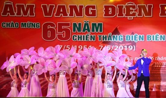 Trường CĐ VHNT Việt Bắc thực hiện chương trình nghệ thuật Âm vang Điện Biên tại Thái Nguyên - Ảnh 4.
