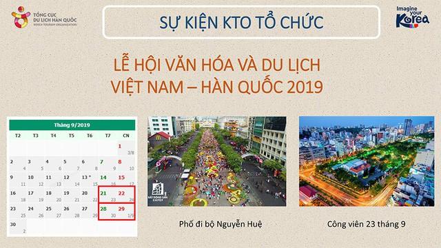 Lễ hội Văn hóa và Du lịch Việt Nam – Hàn Quốc 2019 sắp diễn ra tại TPHCM - Ảnh 1.