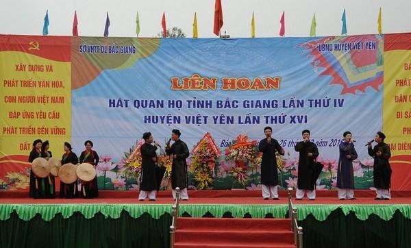Tổ chức Liên hoan hát Quan họ, Ca trù tỉnh Bắc Giang năm 2019 - Ảnh 1.