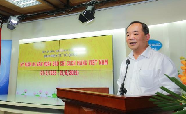 Thứ trưởng Lê Khánh Hải chúc mừng Báo điện tử Tổ Quốc nhân ngày Báo chí cách mạng Việt Nam - Ảnh 1.