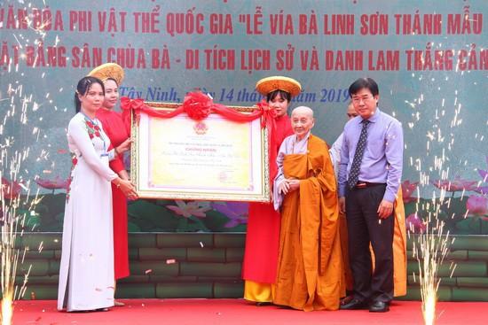 Công bố Di sản văn hóa phi vật thể quốc gia Lễ vía bà Linh Sơn Thánh Mẫu - núi Bà Đen - Ảnh 1.