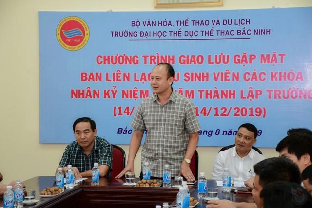 Gặp mặt Ban liên lạc cựu sinh viên các khóa hướng tới kỷ niệm 60 năm thành lập Trường Đại học Thể dục thể thao Bắc Ninh - Ảnh 1.