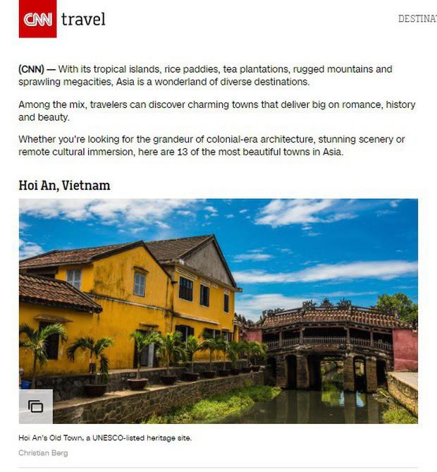 CNN công bố top 14 thành phố đẹp nhất châu Á và Hội An lại tiếp tục đứng số 1 - Ảnh 1.