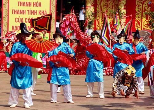 Thanh Hóa đưa Trò diễn Xuân Phả tham dự Liên hoan trình diễn di sản văn hóa phi vật thể quốc gia - Ảnh 1.