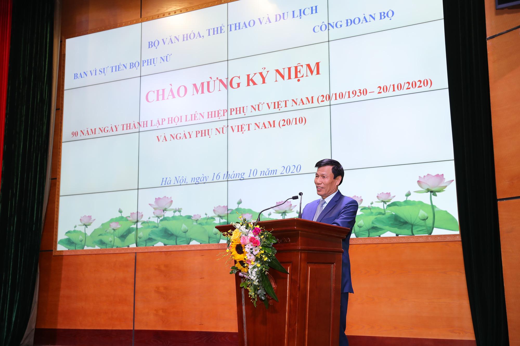 Bộ trưởng Nguyễn Ngọc Thiện: Cán bộ, công chức, viên chức, người lao động nữ đã có đóng góp lớn vào thành tích chung của Bộ VHTTDL - Ảnh 1.