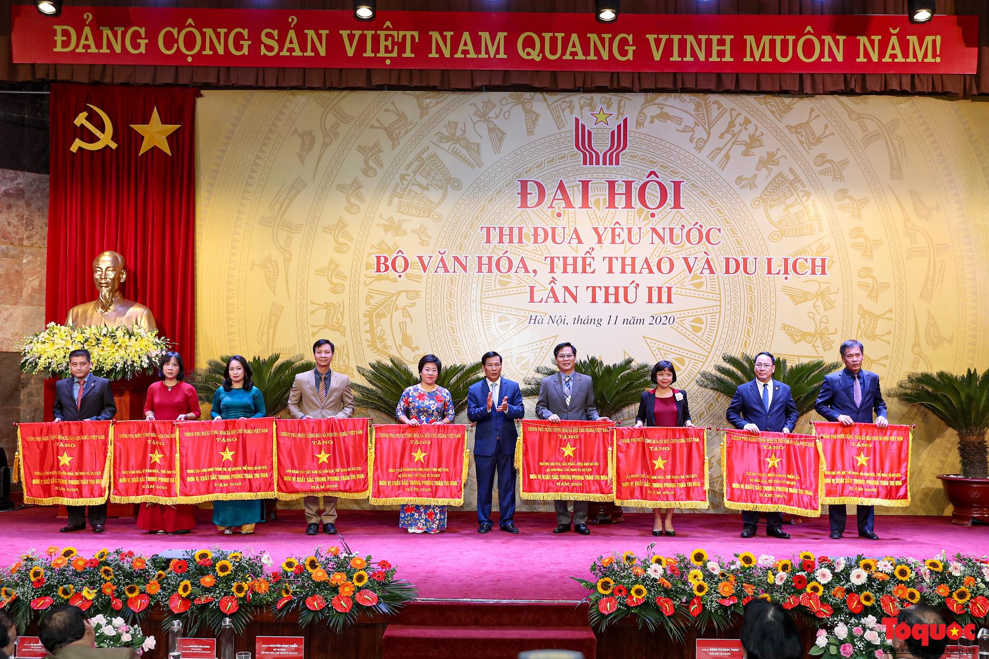 Tại Đại hội, thừa ủy quyền của Thủ tướng Chính phủ, Bộ trưởng Bộ VHTTDL Nguyễn Ngọc Thiện đã trao Cờ Thi đua của Chính phủ cho các đơn vị có thành tích xuất sắc.