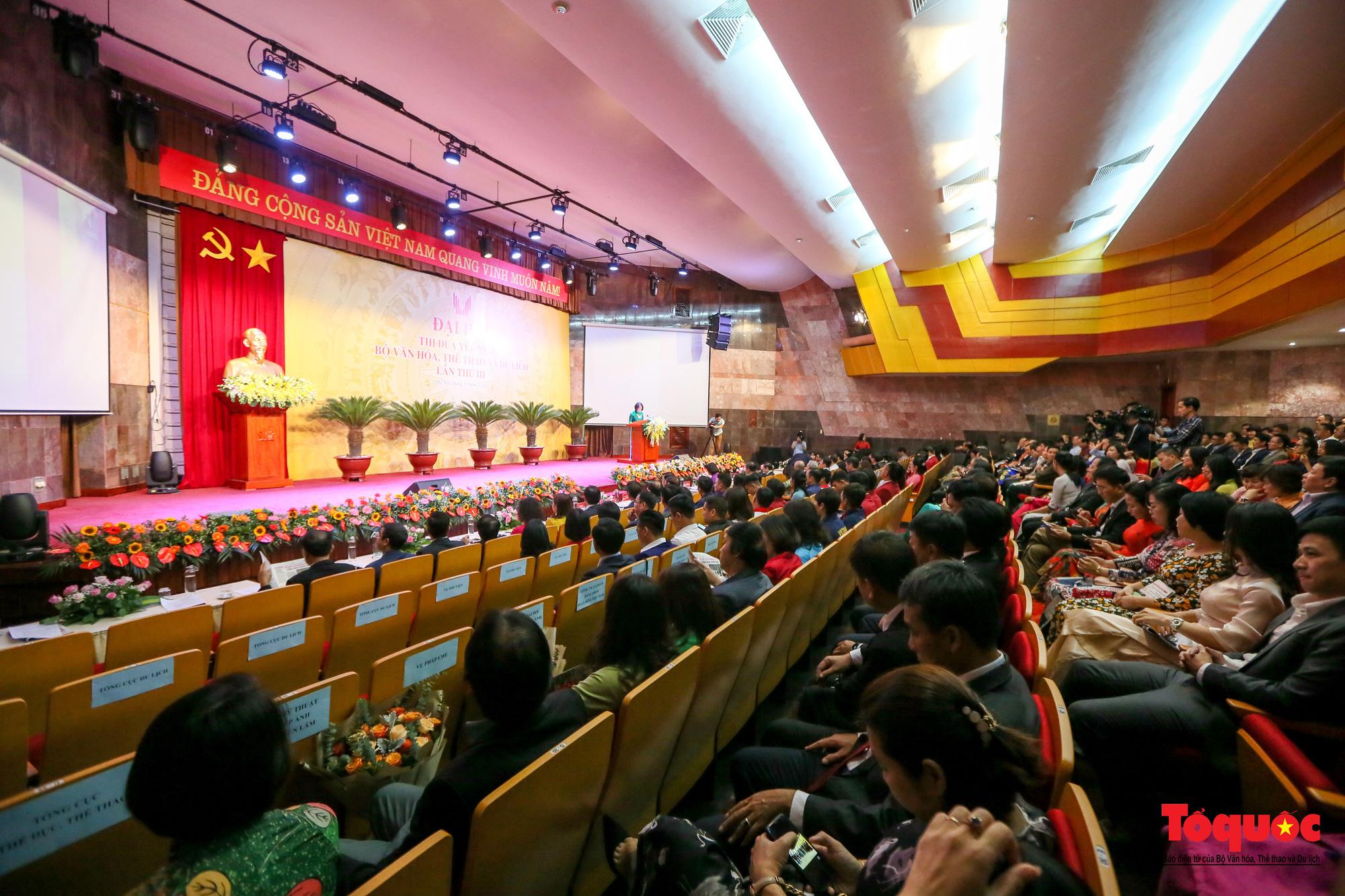 Tại Đại hội, ông Phùng Huy Cẩn, Vụ trưởng Vụ Thi đua khen thưởng (Bộ VHTTDL) đã báo cáo kết quả công tác thi đua, khen thưởng của Bộ trong giai đoạn 2016-2020. Công tác khen thưởng đã đạt được trong 5