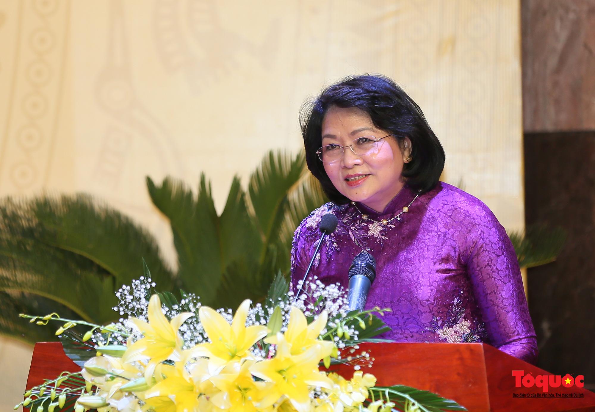 Phát biểu tại Đại hội, Phó Chủ tịch nước Đặng Thị Ngọc Thịnh khẳng định: Việt Nam có một nền văn hóa đặc sắc, lâu đời gắn liền với lịch sử hình thành và phát triển của dân tộc. Thắng lợi vĩ đại của cá