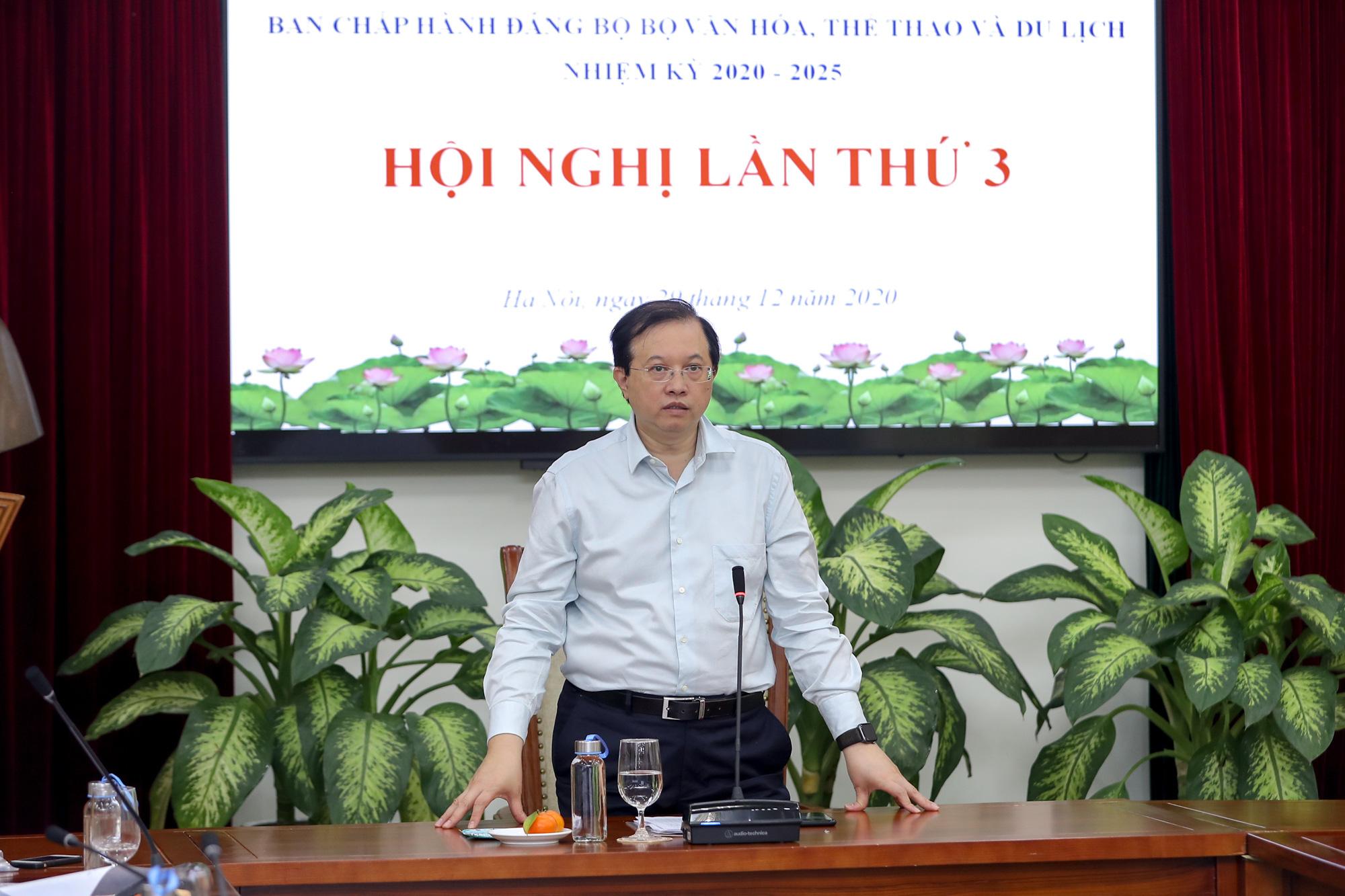 Hội nghị Ban chấp hành Đảng bộ Bộ VHTTDL lần thứ 3 - Ảnh 1.