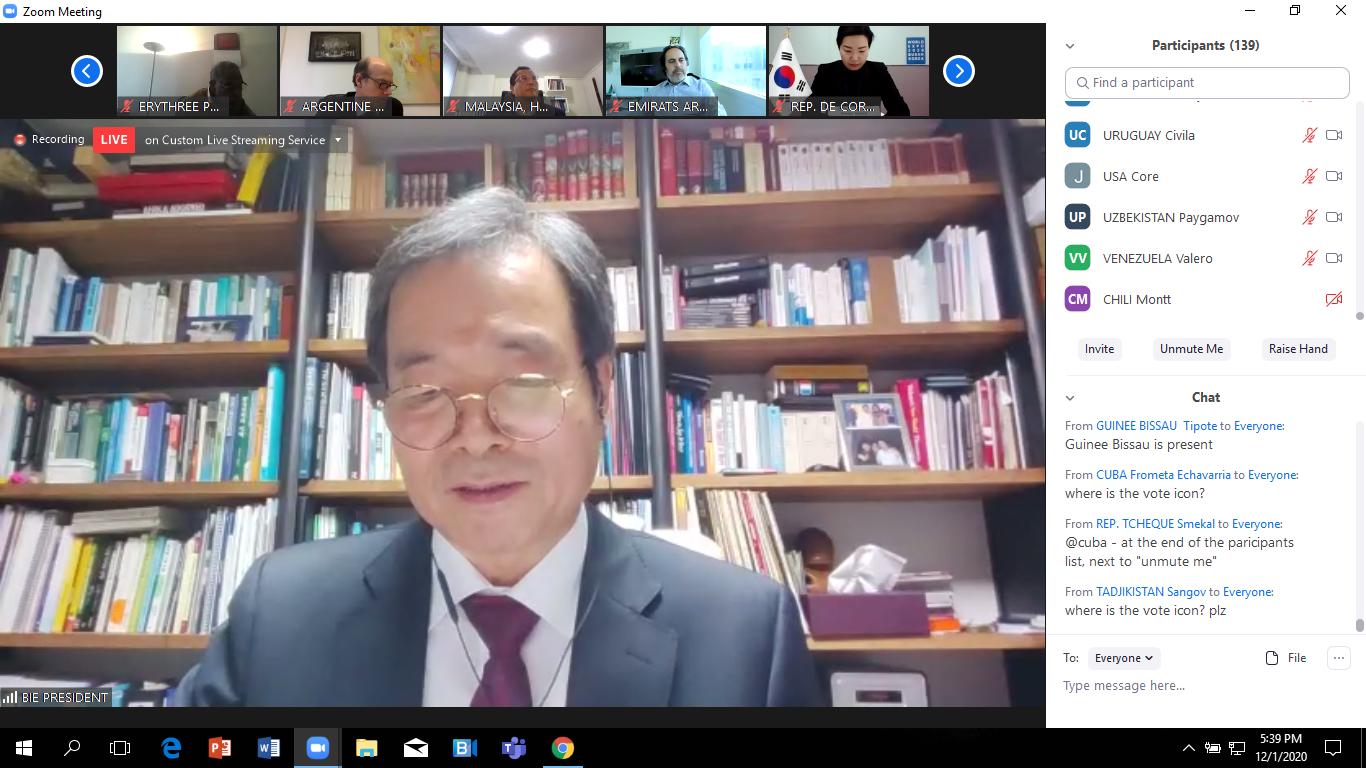 Cục trưởng Cục Hợp tác quốc tế Nguyễn Phương Hòa tham dự  Hội nghị lần thứ 167 Đại hội đồng Tổ chức Triển lãm Thế giới - Ảnh 2.