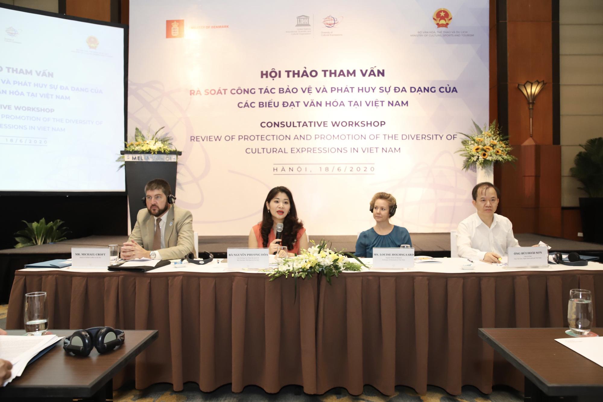 Bộ VHTTDL tham vấn về rà soát công tác bảo vệ và phát huy sự đa dạng các biểu đạt văn hóa tại Việt Nam - Ảnh 1.
