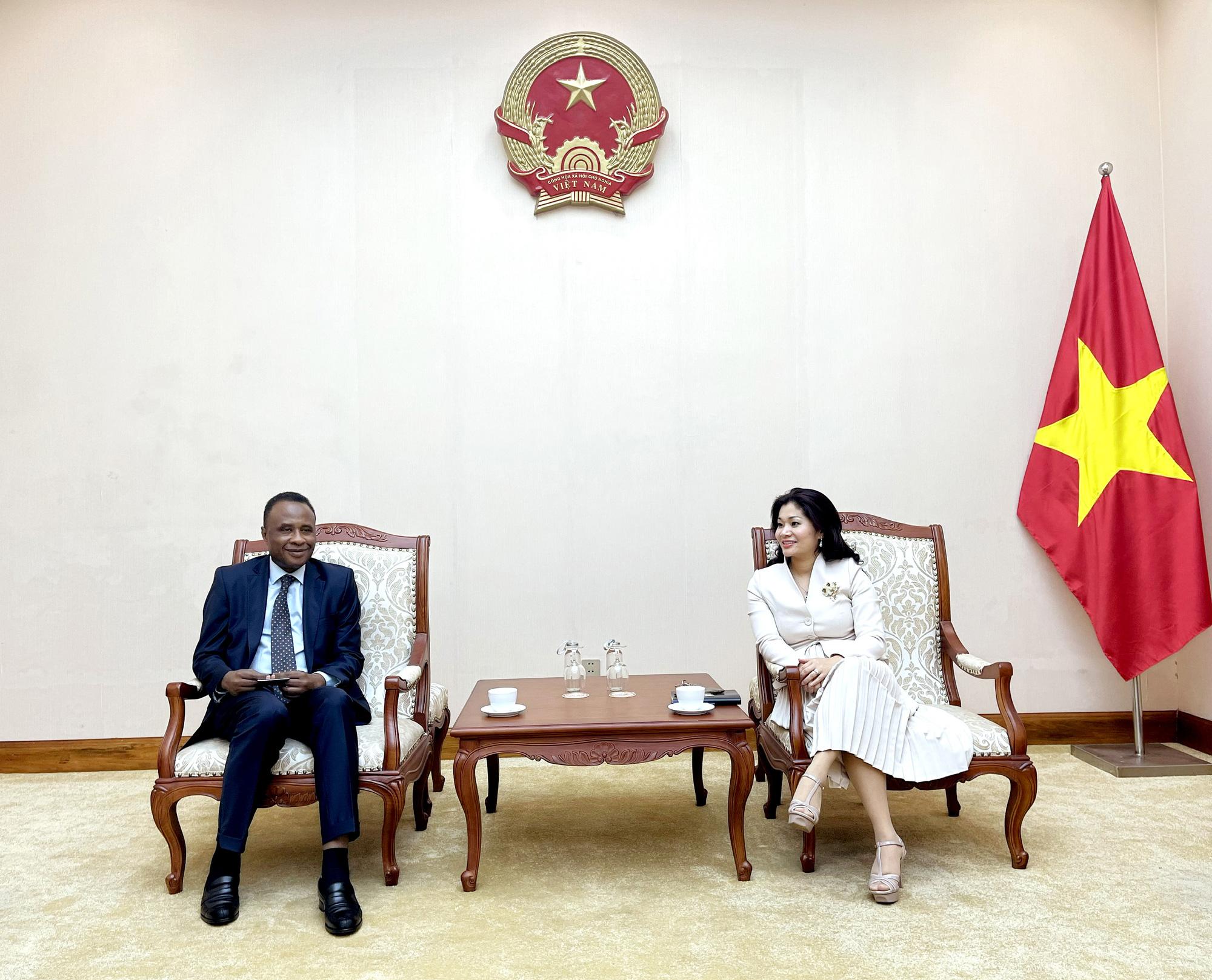 Cục trưởng Cục Hợp tác quốc tế tiếp Ông Chékou Oussouman  Trưởng đại diện tổ chức quốc tế Pháp ngữ OIF, khu vực châu Á  Thái Bình Dương tại Việt Nam - Ảnh 1.