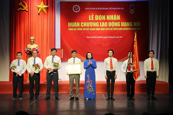 Đảng ủy khối cơ sở Bộ VHTTDL đón nhận Huân chương Lao động hạng Nhì - Ảnh 1.