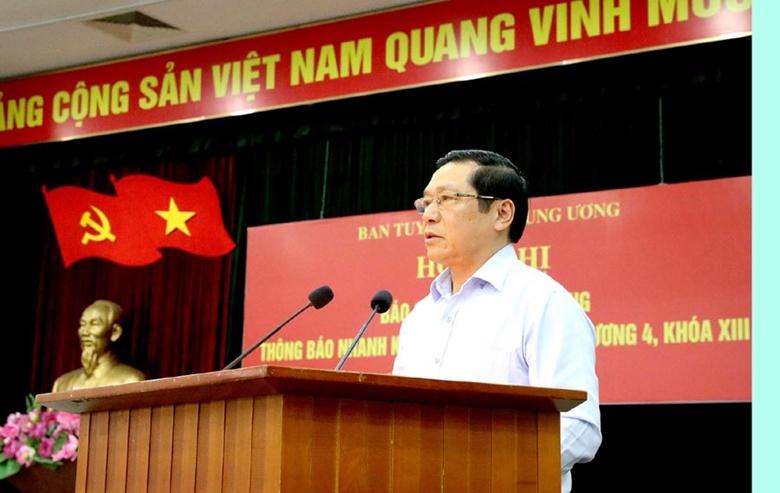72 tổ chức Đảng trực thuộc Bộ VHTTDL tham gia Hội nghị thông báo kết quả Hội nghị lần thứ 4 BCH Trung ương Đảng khóa XIII  - Ảnh 1.