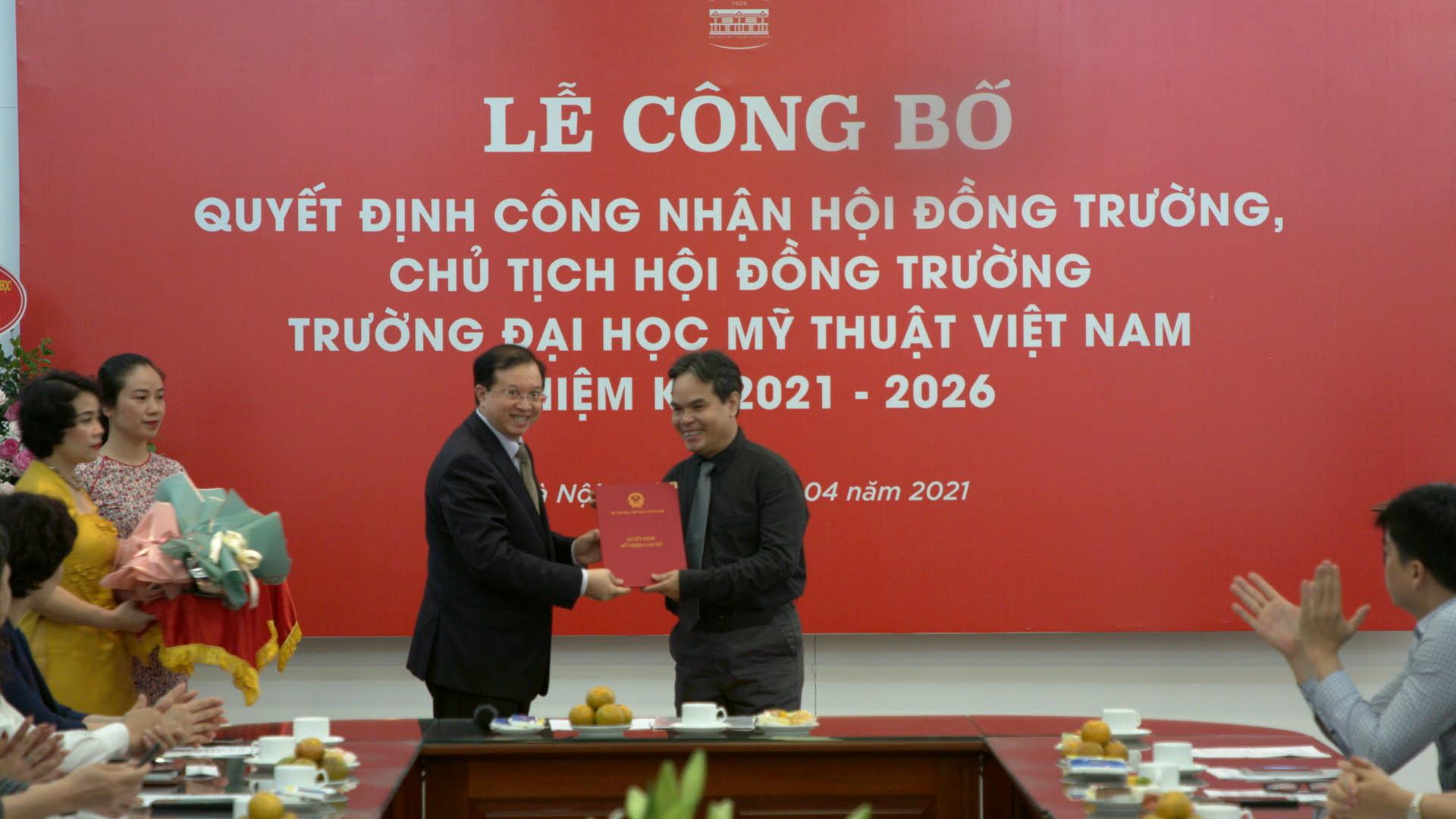 Công bố Quyết định công nhận Hội đồng trường Đại học Mỹ thuật Việt Nam nhiệm kỳ 2021 – 2026 - Ảnh 2.