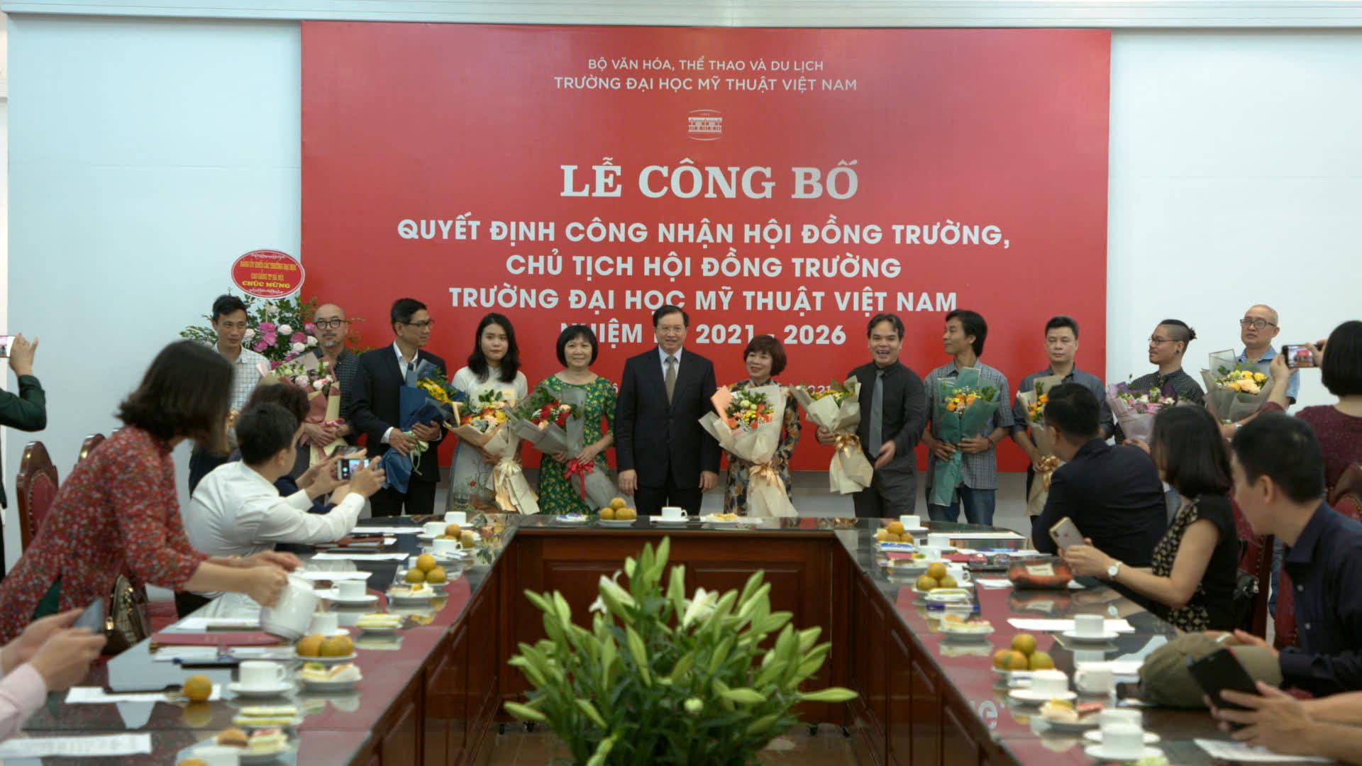 Công bố Quyết định công nhận Hội đồng trường Đại học Mỹ thuật Việt Nam nhiệm kỳ 2021 – 2026 - Ảnh 3.