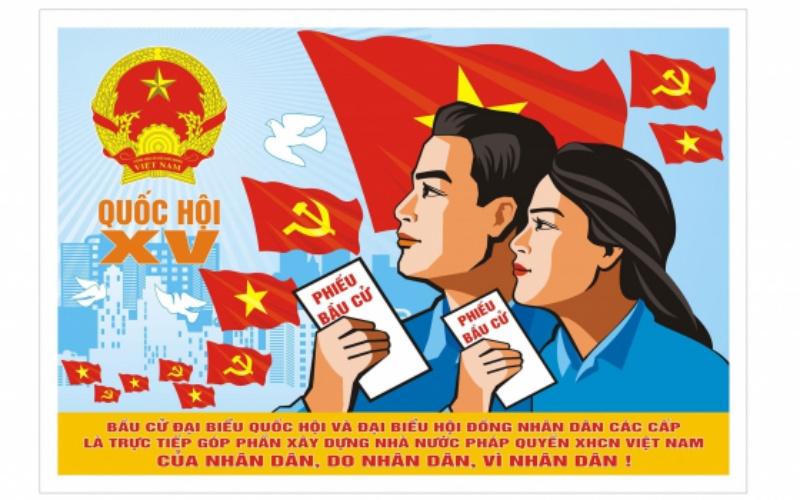 Thái Bình trao giải sáng tác tranh cổ động tuyên truyền bầu cử - Ảnh 1.