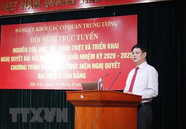 Đảng bộ Khối các cơ quan Trung ương quán triệt và triển khai Nghị quyết Đại hội XIII của Đảng - Ảnh 1.