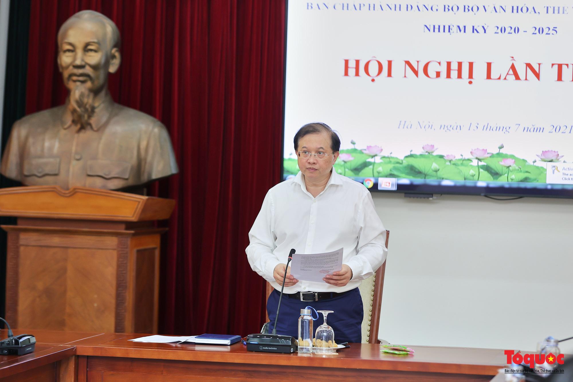 Hội nghị Ban chấp hành Đảng bộ Bộ VHTTDL lần thứ 5 - Ảnh 1.