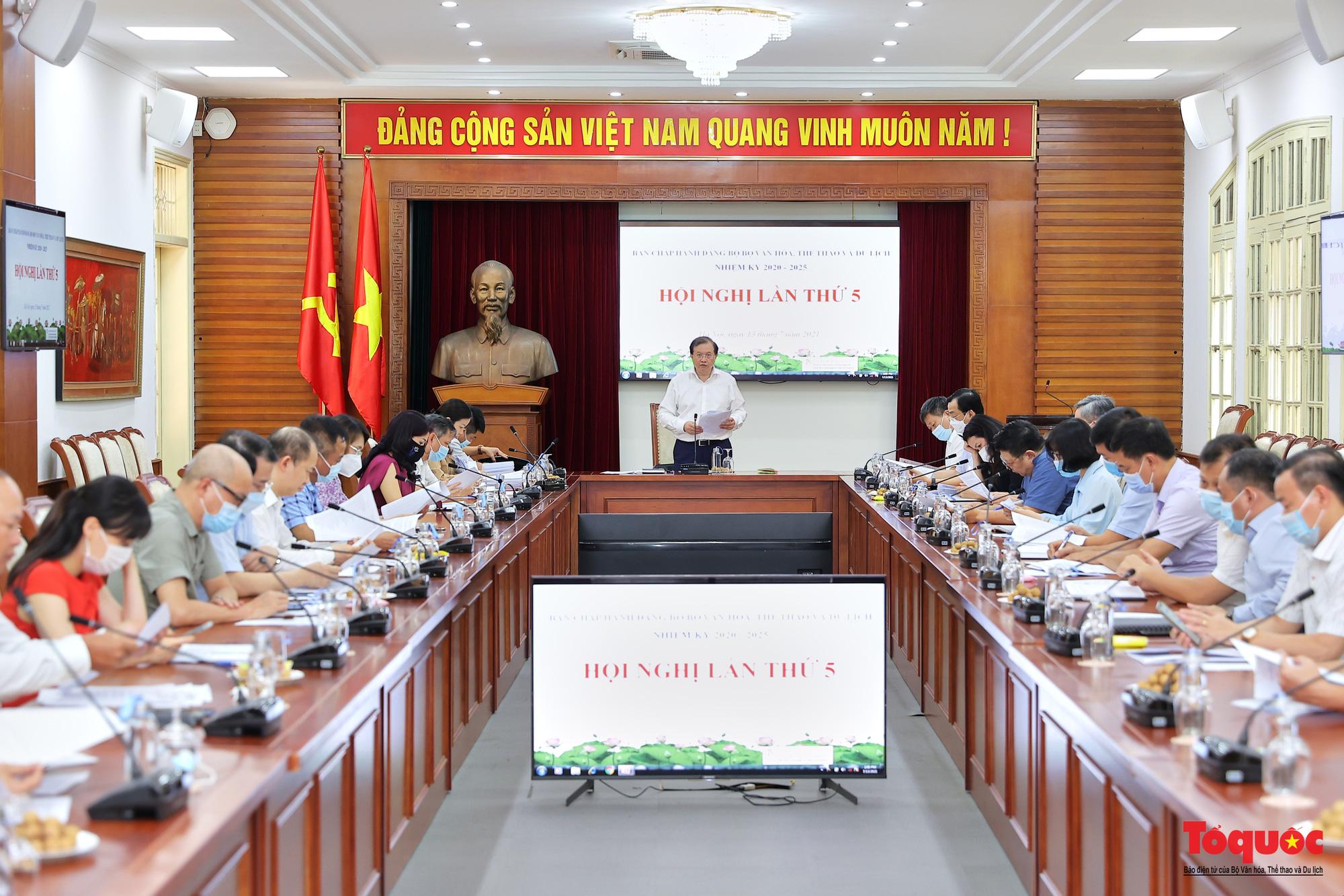 Hội nghị Ban chấp hành Đảng bộ Bộ VHTTDL lần thứ 5 - Ảnh 2.