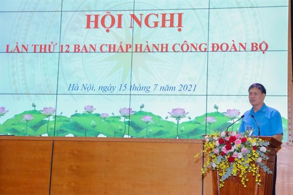Hội nghị lần thứ 12 Ban Chấp hành Công đoàn Bộ VHTTDL - Ảnh 4.