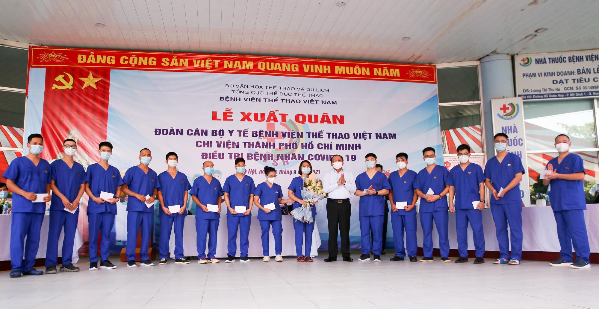Bệnh viên Thể thao Việt Nam xuất quân tăng cường lực lượng vào miền Nam chống dịch - Ảnh 8.