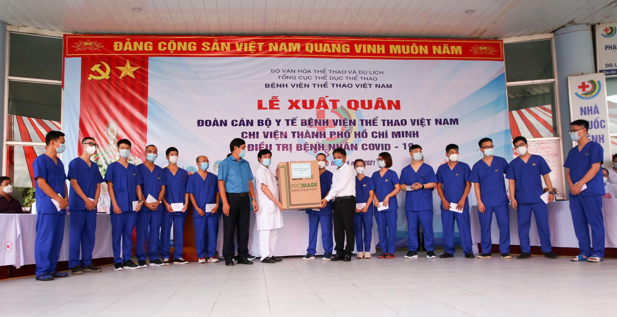 Bệnh viên Thể thao Việt Nam xuất quân tăng cường lực lượng vào miền Nam chống dịch - Ảnh 10.