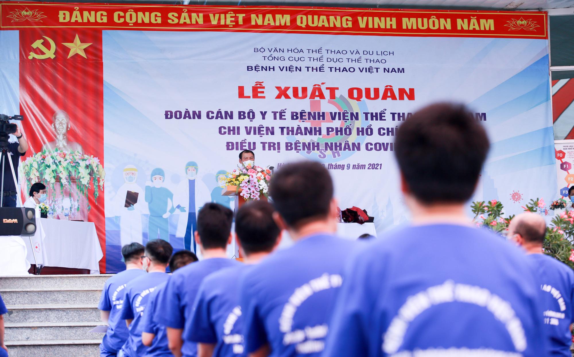 Bệnh viên Thể thao Việt Nam xuất quân tăng cường lực lượng vào miền Nam chống dịch - Ảnh 3.