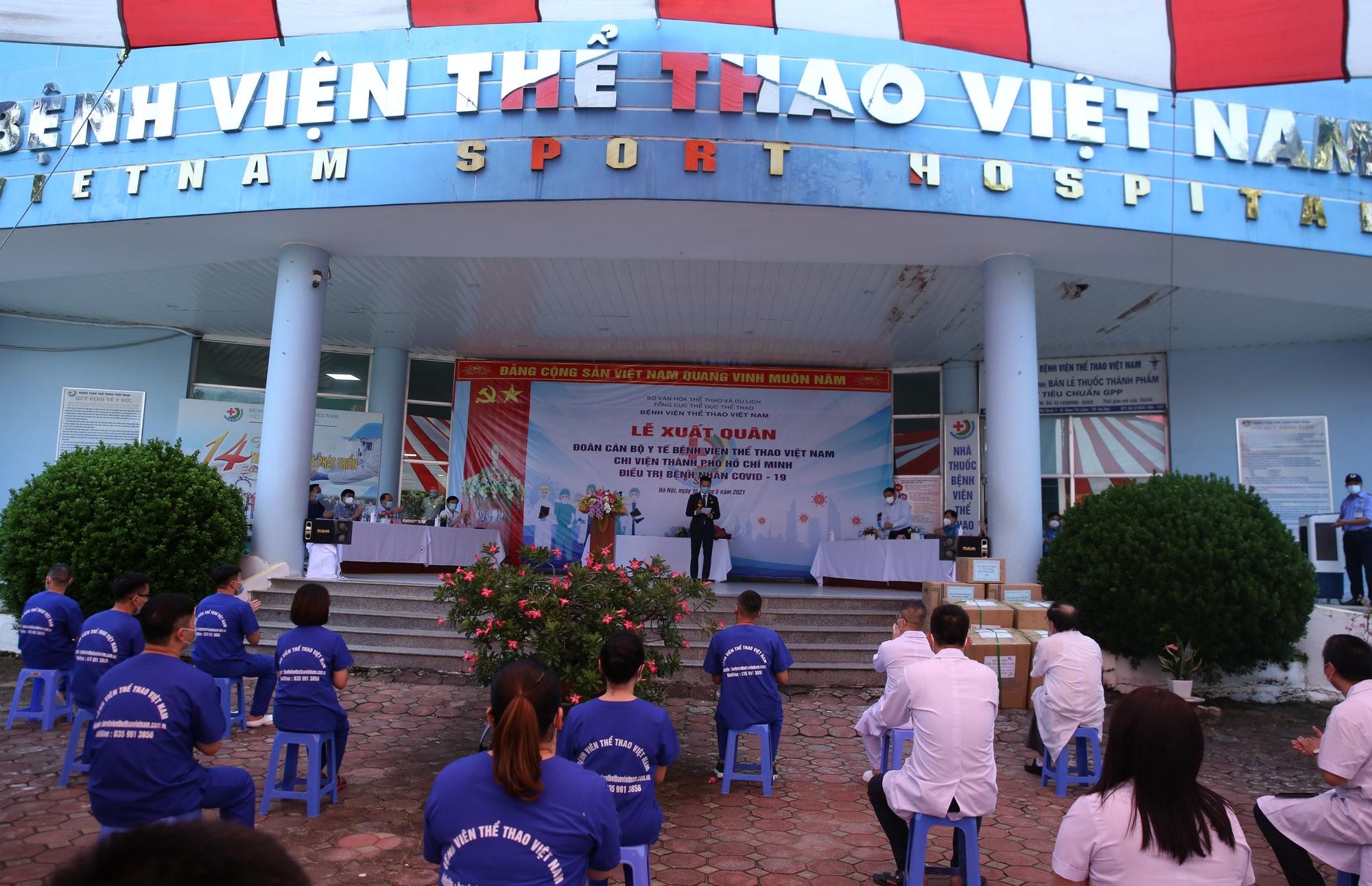 Bệnh viên Thể thao Việt Nam xuất quân tăng cường lực lượng vào miền Nam chống dịch - Ảnh 1.