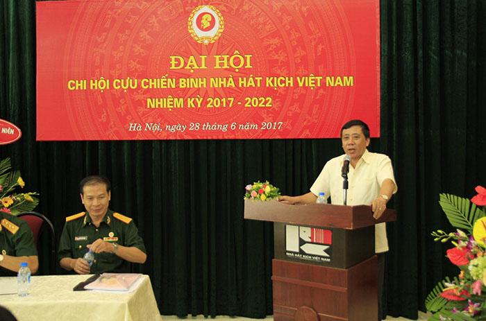 Đồng chí Phùng Minh Cường, Phó Bí thư Thường trực Đảng ủy Bộ VHTTDL phát biểu tại Đại hội.