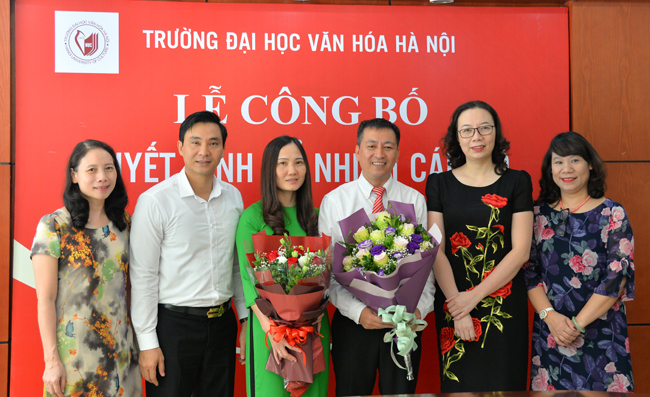 Lễ công bố quyết định bổ nhiệm cán bộ của trường Đại học Văn hóa Hà Nội (ảnh: HUC)